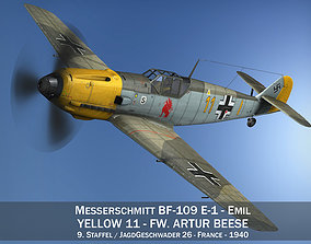 Messerschmitt - BF-109 E - Yellow 11 3D model