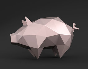 3D printable model Pig triangular