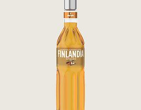 Finlandia Original Classic Spices Bottle Vodka Of 3D asset
