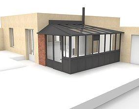3D model Veranda extension