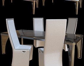 Karl table and chair Rachele Longhi 3D