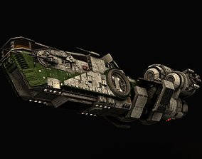 3D model Star Wars Light freighter Acklay