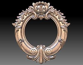 Mirror classical carved frame - set 3D printable model