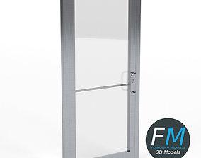 Storefront glass door 3D