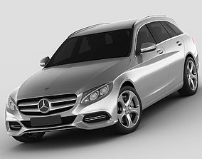 3D model Mercedes C Class estate 2014 avantgarde