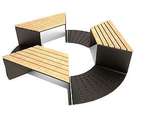 eco 3D model Modern bench