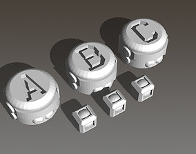 Mission Markers of On Mars Board Game 3D printable model