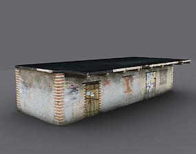 Old warehouse 3D asset game-ready