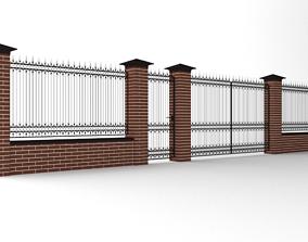 3D Modular wrought iron fence set