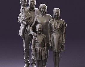 Family man woman girl teen child kid girl 0926 3D Print