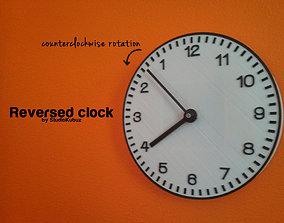 3D printable model Reversed Clock