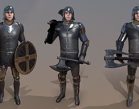 3D model animated TAB Medieval Knight - 7