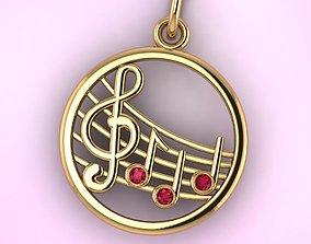 3D printable model pendants music
