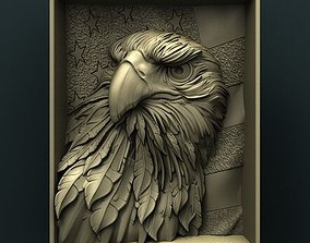 American Eagle 3d stl model for cnc 3D print model