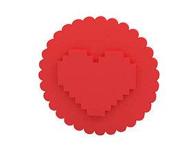 Cookie stamp Stamp 3D printable model love