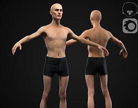3D model Skinny man