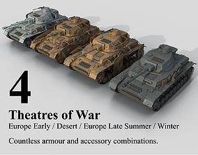 3D model PzKpfw Panzer IV Ausf F G H