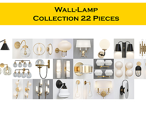 Wall-Lamp Collection 22 Pieces 3D model