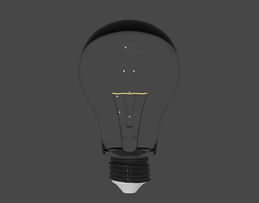 3D model Lightbulb Highend rendered with Blender