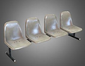 3D asset Laundromat Bench Chairs