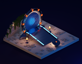 Stargate portal 3d illustration VR / AR ready