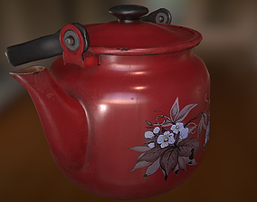 Old Teapot 3D asset game-ready