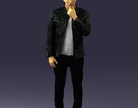 Pensive man in black 0218 3D Print Ready