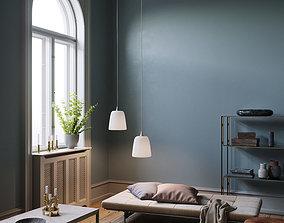Twin Lamps interior scene 3D model