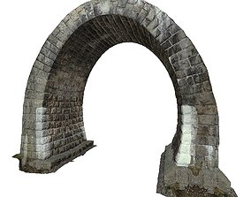 3D model low-poly Gatehouse 01 Tunnel 03