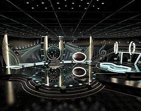Virtual TV Studio Entertainment Set 1 cnn 3D