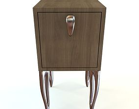 Contemporary Style Nightstand 3D model