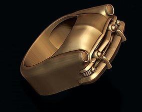 3D print model car ring 17 rings
