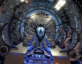 Docked Spacecraft 3D model