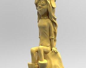 Wendy Corduroy on the stone 3D printable model