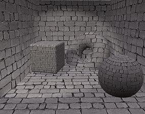 3D model Cinder walss 1