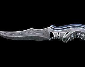 3D asset Carved Combat Knife