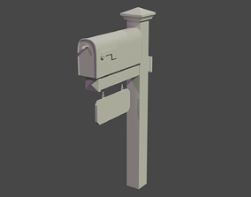 exterior Mailbox 3D model VR / AR ready