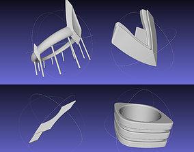 3D printable model Kill La Kill Junketsu Armor Thigh Arm 2