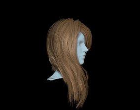 3D asset Hair red 2