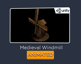 Windmill - Medieval ANIMATED 3D asset VR / AR ready