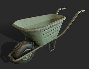 3D model Wheelbarrow tool pallet-jack