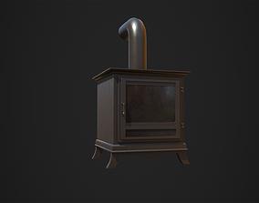3D model Wood Burner PBR Low Poly