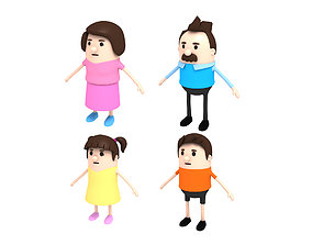 Family Character Pack 3D model