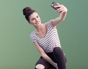 Myriam 10006 - Casual Girl Selfie 3D asset