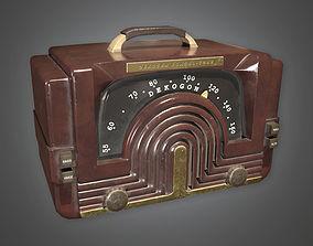 Radio Art Deco - PBR Game Ready 3D asset