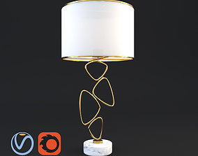 Veronoi Random Table Lamp 3D