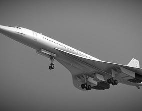 Concorde turbojet-powered supersonic passenger 3D asset