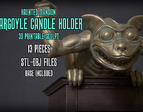 Haunted Mansion Gargoyle Candle Holder 3D printable 1