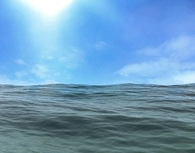 3D model Animated Realistic Sea