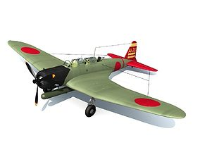 3D Nakajima B5N Kate Japanese Bomber